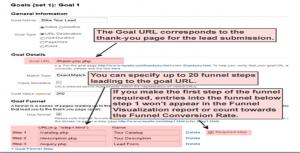 funnel setup in google analytics